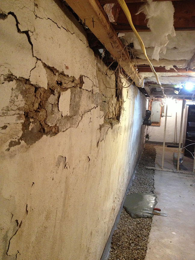 Collapsing basement wall & Replacement and Reconstruction of Foundation and Basement walls in ...